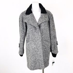 French Connection | Long Grey Wool Blend Coat